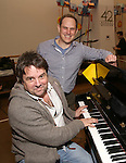 """music director Christopher Nightingale and orchestrator David Holcenberg attend the """"Groundhog Day'' press day at The New 42nd Street Studios on February 2, 2017 in New York City."""