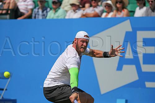 June 17th 2017, Nottingham, England; ATP Aegon Nottingham Open Tennis Tournament day 6;  Backhand from Sam Groth of Australia