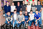 Abbeyfeale United Awards Night held last friday night in &quot;Mick's Local&quot; bar Abbeyfeale, Abbeyfeale United Premier Division Champions 2015-2016<br /> Back: Jamie O' Connor, Maurice O' Connor, Manager John Kelliher, Denis Fitzgerald, Barry Sheehy, Joe Weir,Mike Kelliher.<br /> Front: Manager Toni Stout, Thomas Sexton, Gavin Dillon, Joe Kelliher, Cormac Roche, Conor Horan.