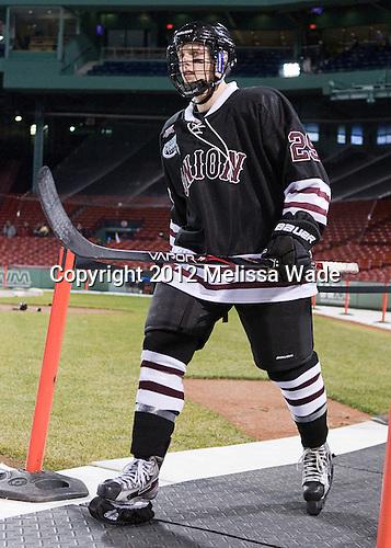 Trevor Mingoia (Union - 29) - The Union College Dutchmen defeated the Harvard University Crimson 2-0 on Friday, January 13, 2011, at Fenway Park in Boston, Massachusetts.