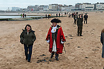 The Mayor of Margate Cllr Robin Edwards at the Blessing the Sea Margate Kent  UK. Epiphany January 6th, is a Christian feast day that celebrates the revelation of God in his Son as the incarnation of Jesus Christ. Greek community in England.