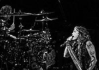 Aerosmith performing at The Boston Garden, July 17 2012.