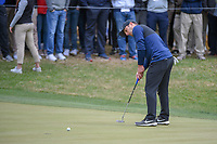 Francesco Molinari (ITA) watches his putt on 18 during day 5 of the WGC Dell Match Play, at the Austin Country Club, Austin, Texas, USA. 3/31/2019.<br /> Picture: Golffile | Ken Murray<br /> <br /> <br /> All photo usage must carry mandatory copyright credit (&copy; Golffile | Ken Murray)