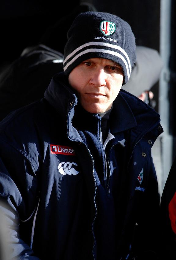 Photo: Richard Lane. .Saracens v London Irish. Guinness Premiership. 28/01/2007. .Irish Director of Rugby, Brian Smith.
