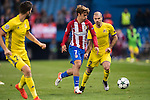 Antoine Griezmann of Atletico de Madrid fights for the ball with Timofei Kalachev of FC Rostov during their 2016-17 UEFA Champions League match between Atletico Madrid and FC Rostov at the Vicente Calderon Stadium on 01 November 2016 in Madrid, Spain. Photo by Diego Gonzalez Souto / Power Sport Images