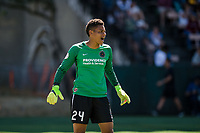 Seattle, WA - Saturday, August 26th, 2017: Adrianna Franch during a regular season National Women's Soccer League (NWSL) match between the Seattle Reign FC and the Portland Thorns FC at Memorial Stadium.