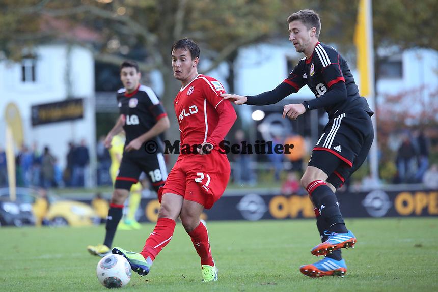 Christian Gartner (Fortuna) gegen Gonzales Castro (Bayer)