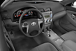 High angle dashboard view of a 2010 Toyota Camry LE