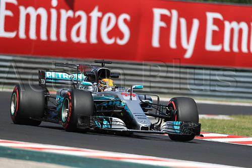 July 27th 2017, Hungaroring, Mogyoród, Hungary; Formula One Grand Prix of Hungary, free practise sessions; Lewis Hamilton - Mercedes AMG Petronas F1 W08 EQ Energy+