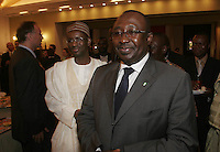 Nigerian Justice minister Chief Bayo Ojo followed by Nuhu Ribadu, Executive Chairman of Economic and Financial Crimes Commision.<br />  &copy; Fredrik Naumann