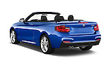 Car pictures of rear three quarter view of a 2015 BMW 2 Series 228i 2 Door Convertible Angular Rear
