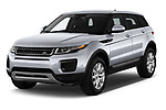 2019 Land Rover Range-Rover-Evoque SE 5 Door SUV Angular Front stock photos of front three quarter view