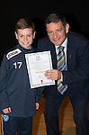 St Johnstone FC Academy Awards Night...06.04.15  Perth Concert Hall<br /> Chairman Steve Brown presents a certificate to Ben Henderson<br /> Picture by Graeme Hart.<br /> Copyright Perthshire Picture Agency<br /> Tel: 01738 623350  Mobile: 07990 594431