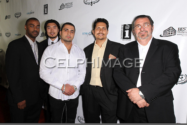 JERALD CAVITT, REO KOBAYASHI, RJ STEWART, RICHARD STEWART, SAM ARASHFAR. Attendees to Souljah Boy Red Carpet Birthday Bash and Performance, sponsored by Swaggmedia.com, at the Highlands. Hollywood, CA, USA. July 28, 2010.