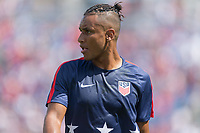 Nashville, TN - Saturday July 08, 2017: Juan Agudelo during a 2017 Gold Cup match between the men's national teams of the United States (USA) and Panama (PAN) at Nissan Stadium.