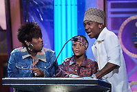 Missy Elliott, Lil' Romeo, and Ja Rule on stage at The Source Hip-Hop Music Awards 2001 at the Jackie Gleason Theater in Miami Beach, Florida.  8/20/01  Photo by Scott Gries/ImageDirect