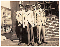 Yorkville, NY - 1944: Boys pictured outside Gene's Tavern in Yorkville, New York in 1944. Photo Credit: Thomas R Pryor