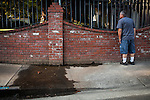 """SACRAMENTO, CA - JULY 3, 2014:  Sacramento City water waste inspector Ron Carpenter tries to find the source of flowing water on one of Sacramento's enforced """"no watering"""" days. CREDIT: Max Whittaker for The New York Times"""