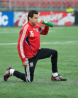 16 May 09: Chicago Fire midfielder Marco Pappa #16 warms up during action at BMO Field in a game between the Chicago Fire and Toronto FC..Chicago Fire won 2-0..