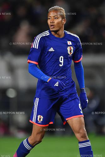 Musashi Suzuki (JPN),<br /> MARCH 11, 2015 - Football / Soccer :<br /> International friendly match between U-22 Japan 9-0 U-22 Myanmar at Fukuda Denshi Arena in Chiba, Japan. (Photo by AFLO)