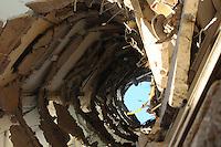 SÃO BERNARDO DO CAMPO, SP,08 FEVEREIRO 2012-Fotos da parte interna do predio  Desabamento  prédio comercial, na esquina da avenida Índico com a rua Jurubatuba, no centro de São Bernardo do Campo, no ABC, desabarem parcialmente por volta das 19h40 desta segunda-feira (6).(FOTO: ADRIANO LIMA - NEWS FREE).