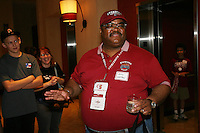 SAN ANTONIO, TX - APRIL 4:  Guests gather at a rally before Stanford's 73-66 win over Oklahoma in the Final Four semi-finals at the Alamo Dome on April 4, 2010 in San Antonio, Texas. Pictured is Otis Watson.