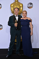 Mark Rylance & Patricia Arquette at the 88th Academy Awards at the Dolby Theatre, Hollywood.<br /> February 28, 2016  Los Angeles, CA<br /> Picture: Paul Smith / Featureflash