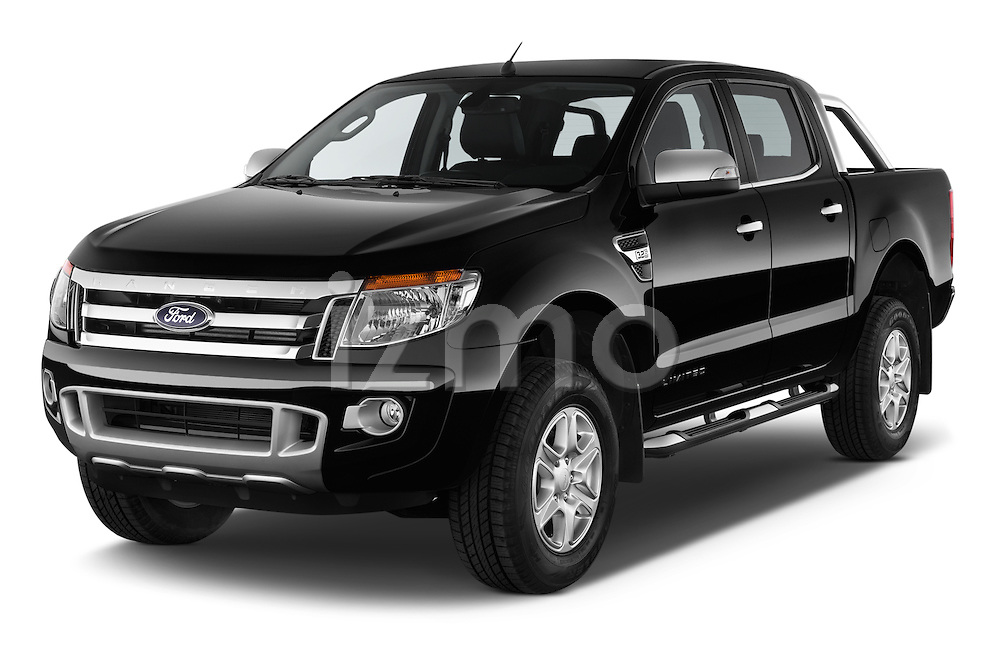 2014 Ford Ranger Limited 4 Door Pickup Angular Front stock photos of front three quarter view