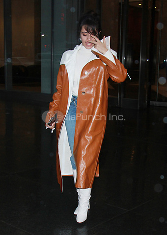 NEW YORK, NY - JANUARY 12: Camila Cabello seen leaving SiriusXM studio while promoting her new album in New York City on January 12, 2018. Credit: RW/MediaPunch