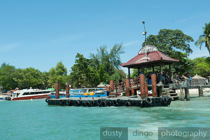 Jetty at Gili Air, one of the small islands just off the coast of Lombok.