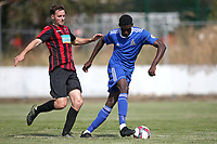 DJ Adelekan of Redbridge during Redbridge vs Saffron Walden Town, Essex Senior League Football at Oakside Stadium on 4th August 2018