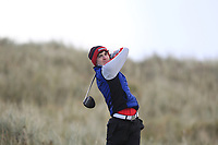 Thomas Higgins (Roscommon) on the 11th tee during Round 3 of the Ulster Boys Championship at Portrush Golf Club, Portrush, Co. Antrim on the Valley course on Thursday 1st Nov 2018.<br /> Picture:  Thos Caffrey / www.golffile.ie<br /> <br /> All photo usage must carry mandatory copyright credit (&copy; Golffile | Thos Caffrey)