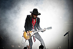 Joe Perry of Aerosmith performs at Nationwide Arena during the 'Global Warming Tour' in Columbus, Ohio.