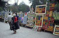 Outdoor Sunday art show in Parque El Ejido, Quito, Ecuador
