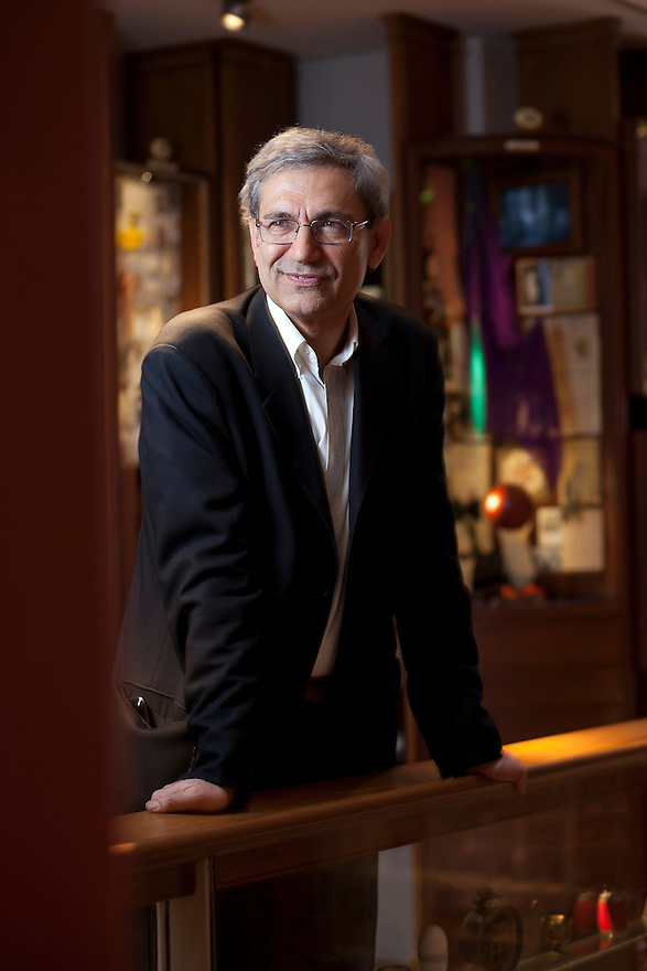 Istanbul, Turkey-- April 27, 2012-- Orhan Pamuk, Nobel prize-winning author at the Museum of Innocence in the Cukercuma neighborhood of Istanbul. The Museum is based on his novel by the same name. CREDIT: JODI HILTON