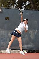 SAN ANTONIO, TX - February 15, 2009: The University of Texas-Pan American Broncos vs. The University of Texas at San Antonio Roadrunners Women's Tennis at the UTSA Tennis Center. (Photo by Jeff Huehn)