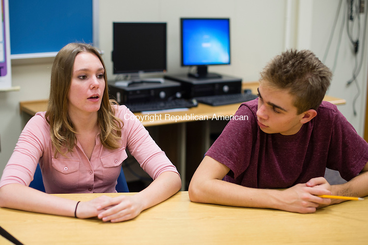 WASHINGTON, CT- 28 October 2015-102815EC05-  Amber Wright and Matthew Marchesc are students at Shepaug Valley High School in Washington. Erin Covey Republican-American