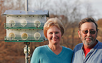 """Loretta and Dennis Sitter on Friday, Nov. 19, 2010 at their home in Jonesboro, Illinois. The couple has been attracting purple martins for """"about 8 years, or off and on for 20 years."""""""