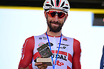 Yesterday's stage winner Thomas De Gendt (BEL) Lotto-Soudal at sign on before Stage 9 of the 2019 Tour de France running 170.5km from Saint-Etienne to Brioude, France. 14th July 2019.<br /> Picture: ASO/Pauline Ballet | Cyclefile<br /> All photos usage must carry mandatory copyright credit (© Cyclefile | ASO/Pauline Ballet)