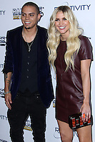 WEST HOLLYWOOD, CA - NOVEMBER 12: Actress/Singer Ashlee Simpson and her boyfriend Evan Ross arrive at the BandFuse: Rock Legends Event held at House of Blues Sunset Strip on November 12, 2013 in West Hollywood, California. (Photo by Xavier Collin/Celebrity Monitor)