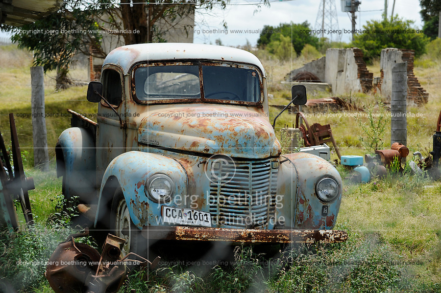 URUGUAY -  Montevideo, old cars at junkyard