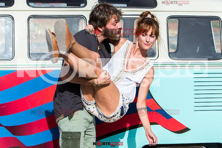 "Spanish actress Silvia Alonso and Salva Reina during the filming of the movie "" Senor, dame paciencia"" directed by Alvaro Diaz. September 06, 2016. (ALTERPHOTOS/Rodrigo Jimenez) NORTEPHOTO.COM"