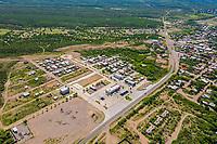Aerial view of Molymex plant, molybdenum processor in the town of Cumpas, Sonora, Mexico.<br />  (© Photo: LuisGutierrez / NortePhoto.com)<br /> <br /> Vista aerea de planta Molymex, procesadora de molibdeno en la localidad de Cumpas, Sonora, México. <br />  (© Photo: LuisGutierrez / NortePhoto.com)