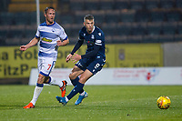 1st November 2019; Dens Park, Dundee, Scotland; Scottish Championship Football, Dundee Football Club versus Greenock Morton; Andrew Nelson of Dundee and Chris Millar of Greenock Morton  - Editorial Use