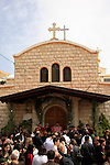 Israel, Galilee, Easter, Palm Sunday at the Melkite Greek Catholic Church in Rame'