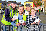 Richard O'Callaghan, Donal Enright, Jack Griffin and Anita Bodenham from NEKD pictured last Tuesday ahead of a campaign to install free smoke alarms into the homes of the local elderly in Listowel.