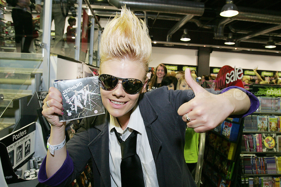16/7/2010. Jedward fanChantelle Mc Dermott is pictured at the launch of the new Jedward album at HMV Dundrum. Picture James Horan/Collins Photos