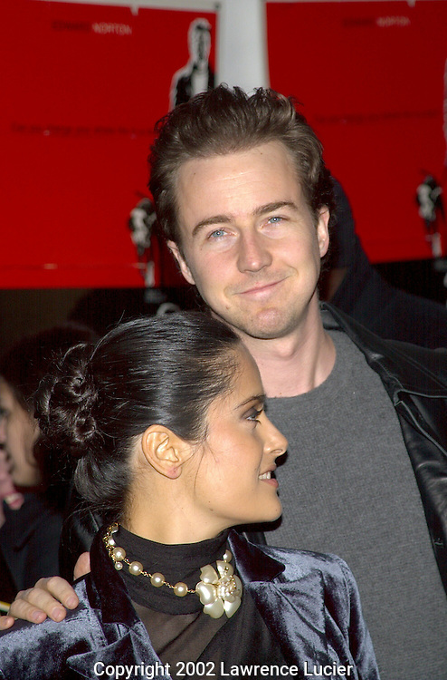Salma Hayek and Ed Norton