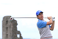 Andrew McCormack (Newcastle West) on the 13th tee during Round 2 of The South of Ireland in Lahinch Golf Club on Sunday 27th July 2014.<br /> Picture:  Thos Caffrey / www.golffile.ie