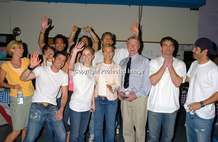 Group Shot ..at the Guiding Light Set for a Bauer Barbeque for Emmy week on May 20, 2004 ...Photo by Robin Platzer, Twin Images